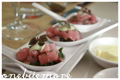 tuna tartare - with compliments from the chef