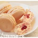 raspberry & rosewater macarons
