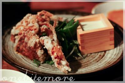 watari-gani kara-age: crispy soft-shell crab, wasabi mayonnaise
