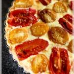 tomato & ricotta tart