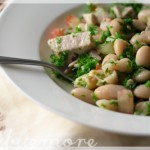 confit tuna and bean salad