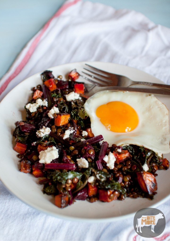 beetroot, kale and sweet potato salad
