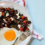 beetroot, kale and sweet potato salad